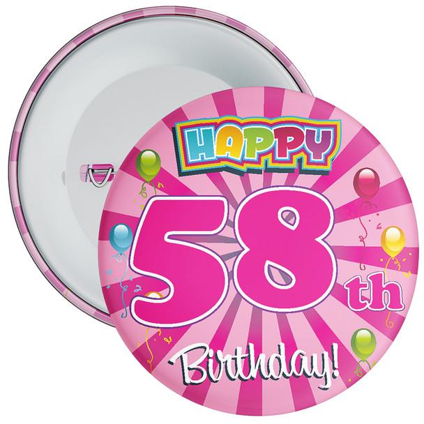 58th Birthday Badge