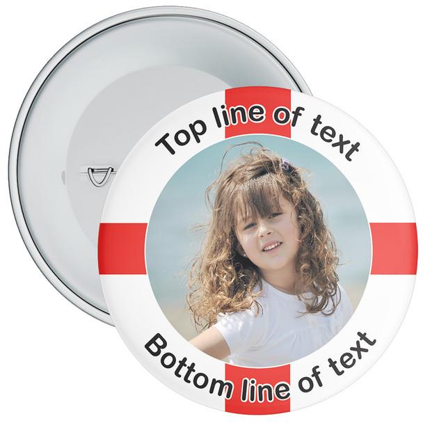 England Themed Photo Badge