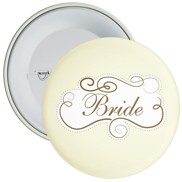 Cream Bride Hen Party Badge