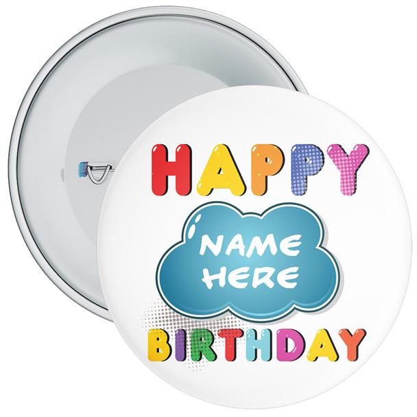 Customisable Birthday Badge