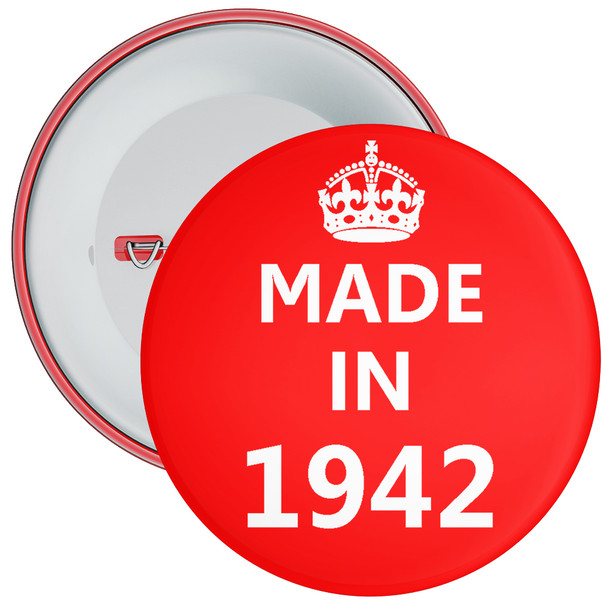 Made in 1942 Birthday Badge