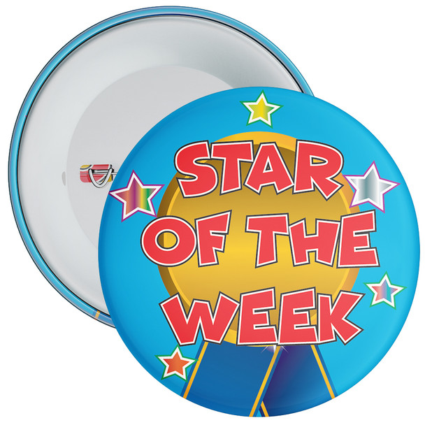 School Blue Star of The Week Reward Badge