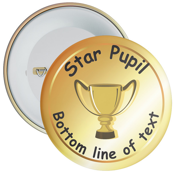 School Customisable Star Pupil Badge 8