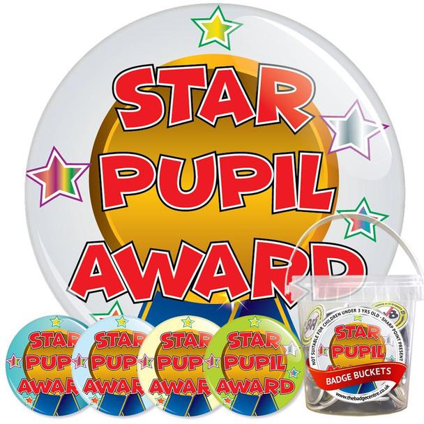 Pack of School Star Pupil Award Badges - Badge Bucket 2