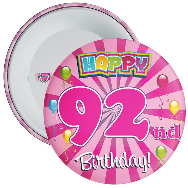 92nd Birthday Badge
