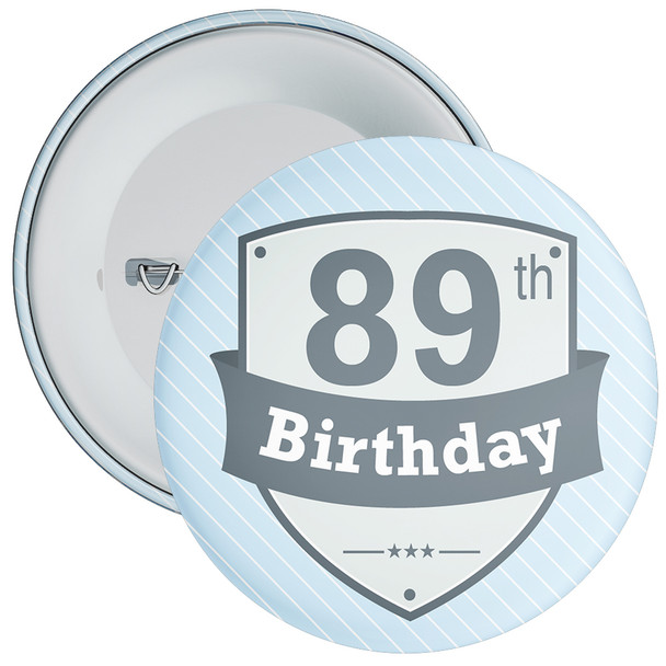 Vintage Retro 89th Birthday Badge