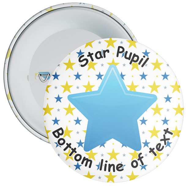 School Customisable Star Pupil Badge 10