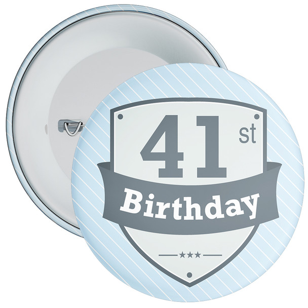 Vintage Retro 41st Birthday Badge