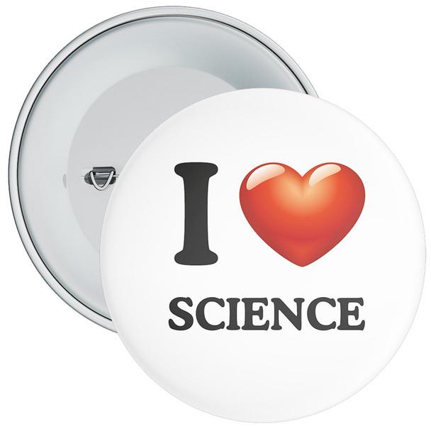 School I Love Science Badge