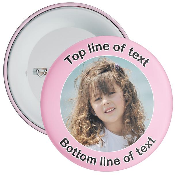 Light Pink Bordered Photo Badge