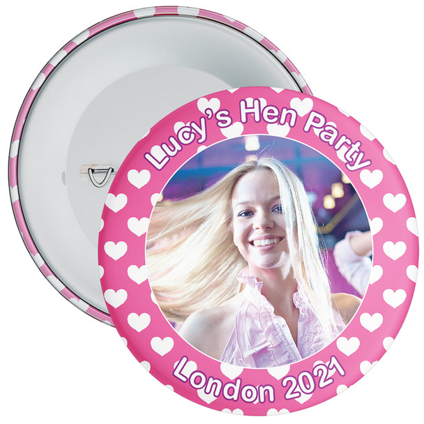 Customisable Hen Party Photo Badge 5