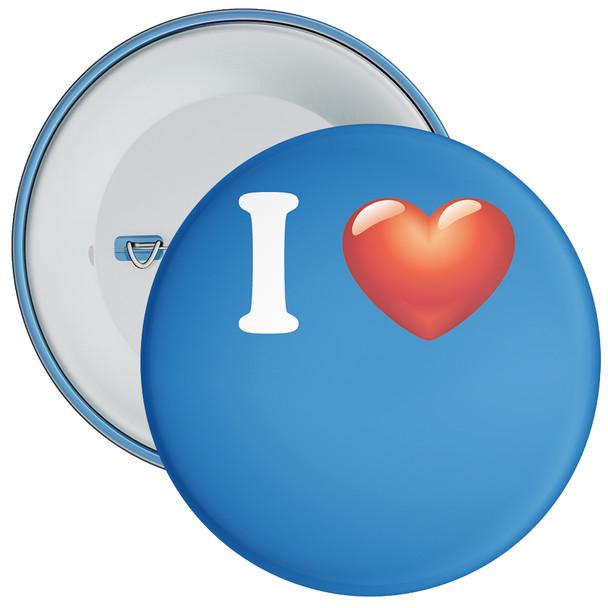 Blue Custom I Love Badge