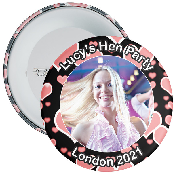 Customisable Hen Party Photo Badge 3