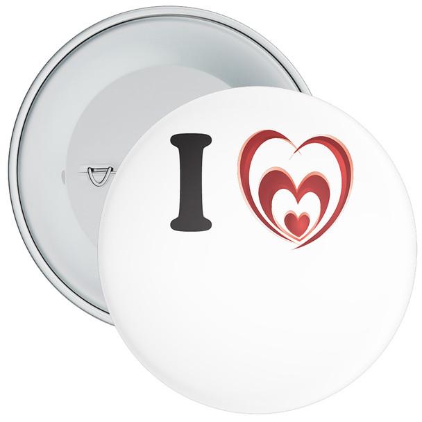 Custom I Love Badge