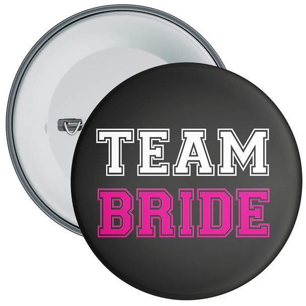 Black and Pink Team Bride Hen Party Badge