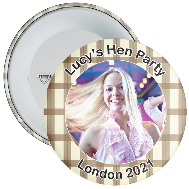 Scottish Style Tartan Hen Party Badge with Photo 10