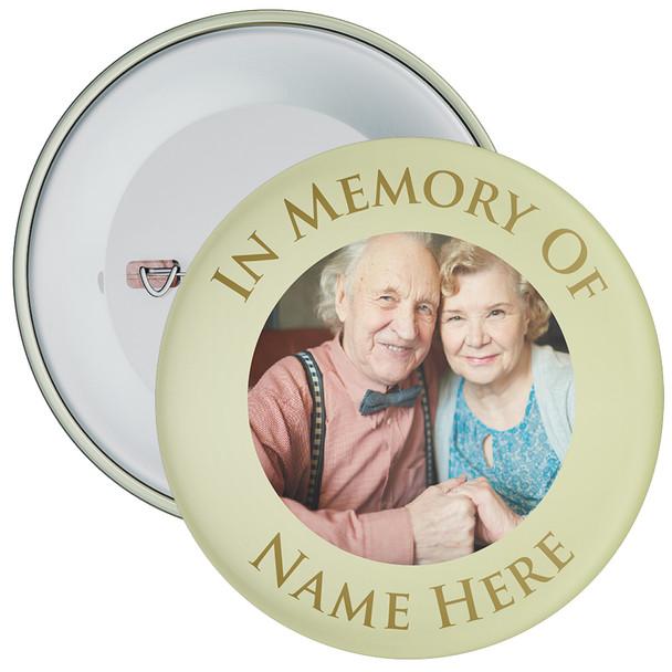 In Memory Of Photo Badge (green)