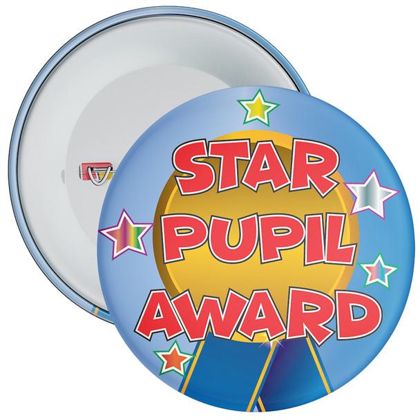 School Blue Coloured Star Pupil Award Reward Badge