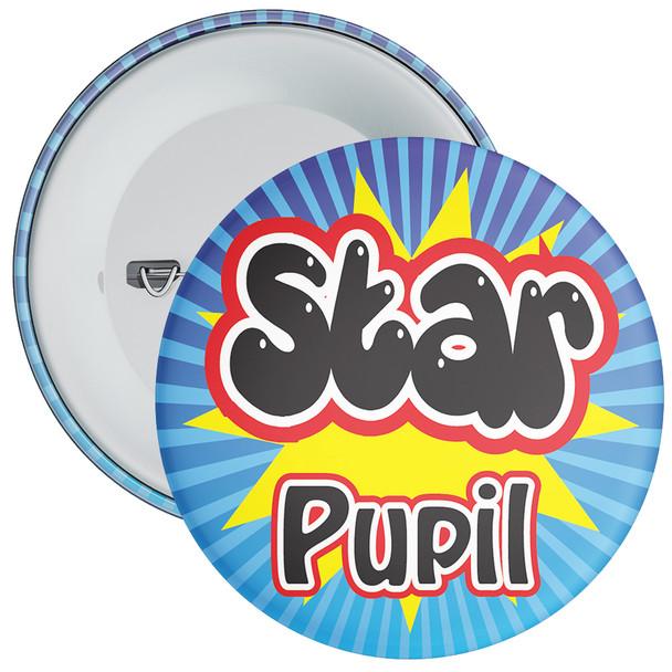 School Blue & Yellow Star Pupil Badge