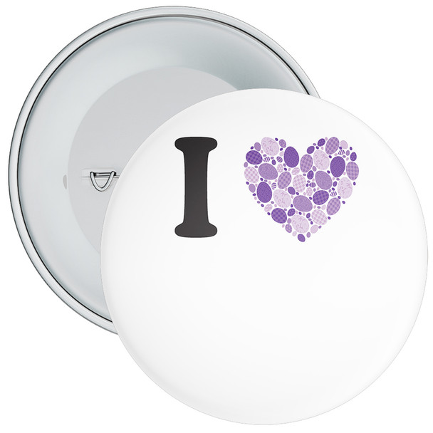 White Custom I Love Badge 6