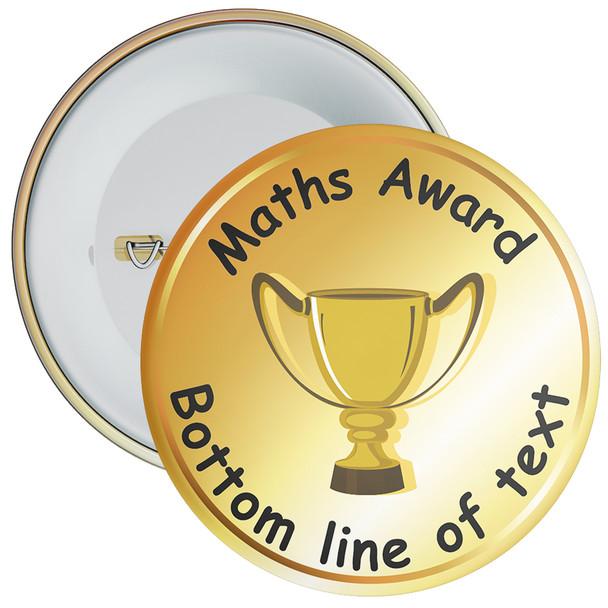 School Customisable Maths Award Badge 6