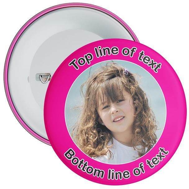 Pink Bordered Photo Badge