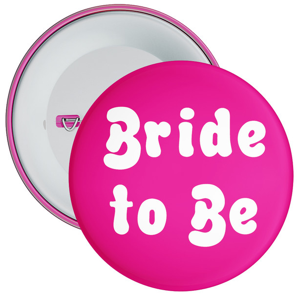 Pink Bride to Be Hen Party Badge
