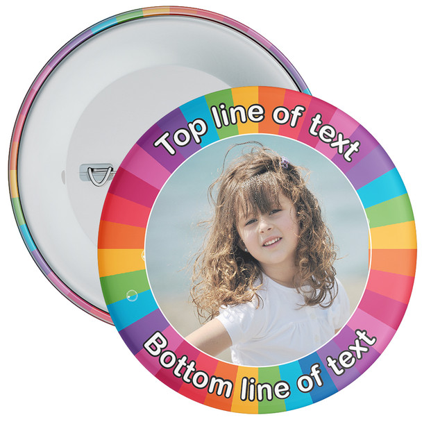 Multicoloured Bordered Photo Badge 3
