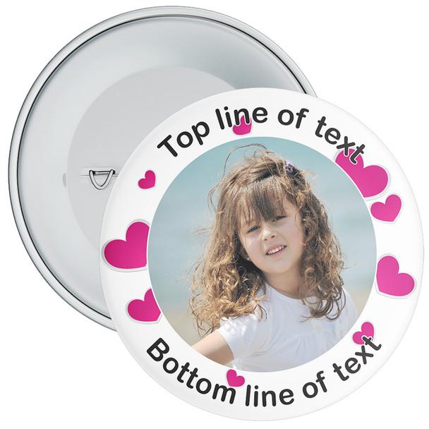 Heart Border Styled Photo Badge