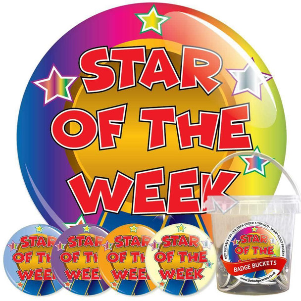 Pack of School Star of The Week Badges - Badge Bucket