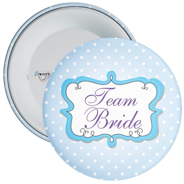 Blue Team Bride Hen Party Badge