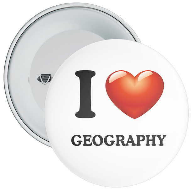 School I Love Geography Badge