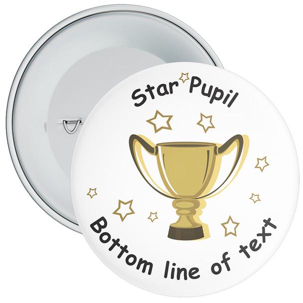 School Customisable Star Pupil Badge 7