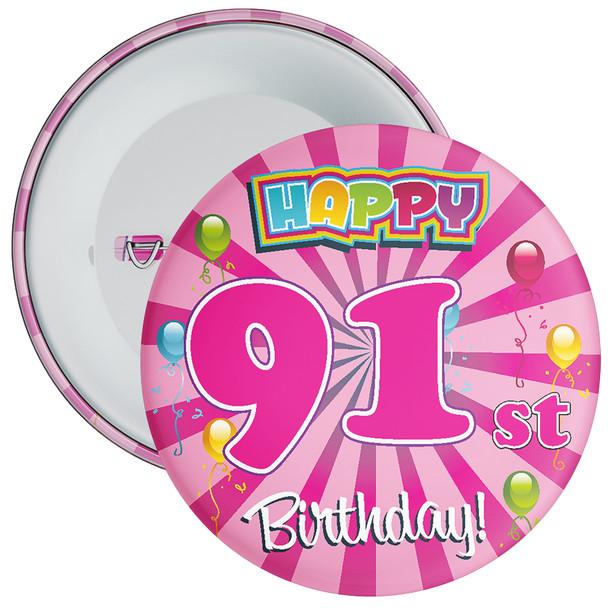 91st Birthday Badge