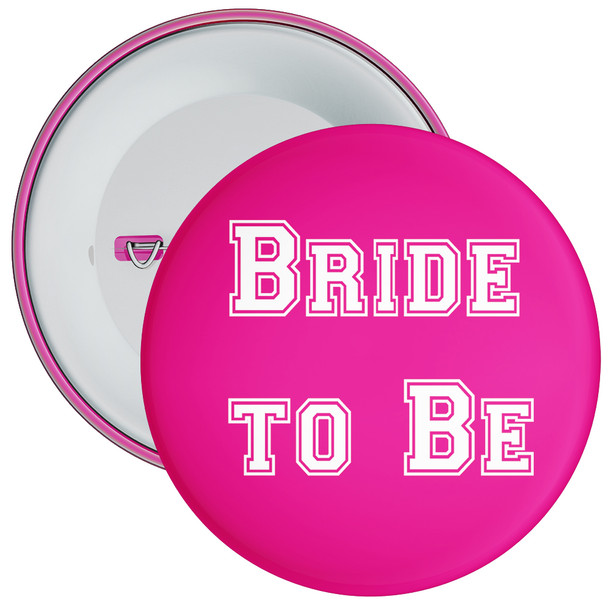 Pink Bride to Be Hen Party Badge 1