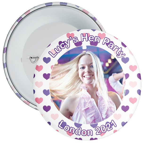 Customisable Hen Party Photo Badge 8