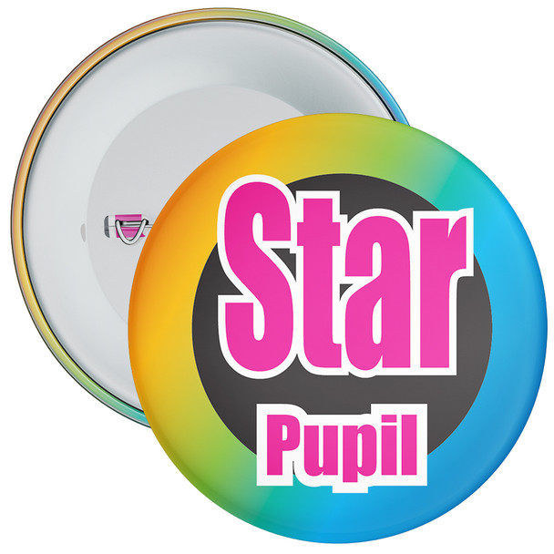 School Colourful Star Pupil Badge 1