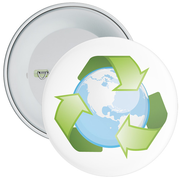 School Recycle Globe Eco Badge