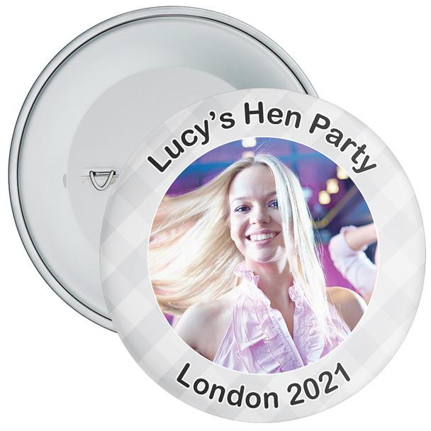 Scottish Style Tartan Hen Party Badge with Photo 11