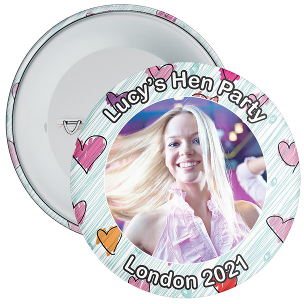 Customisable Hen Party Photo Badge 2