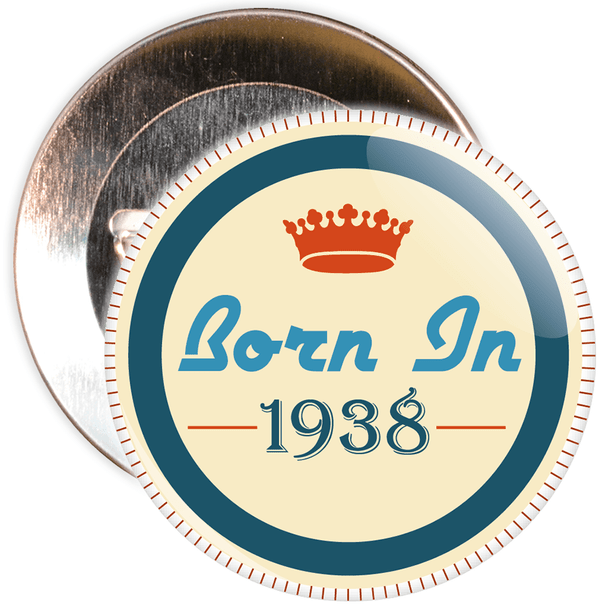 Born in 1938 Birthday Badge