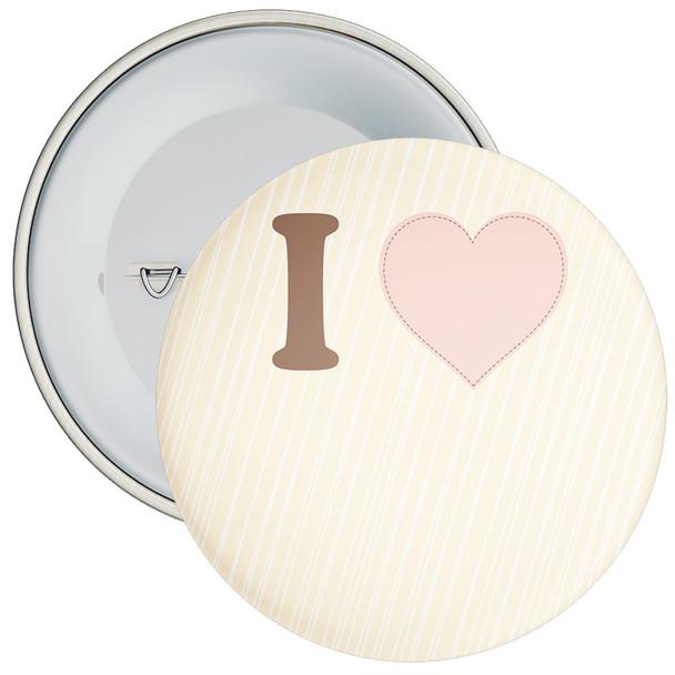 Cream Custom I Love Badge