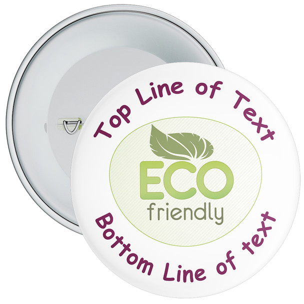 School Customisable Eco Friendly Badge