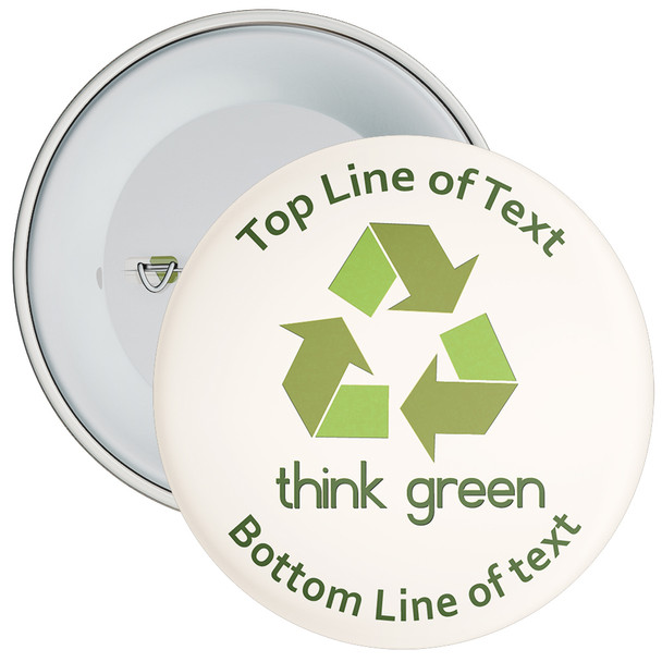 School Customisable Think Green Badge