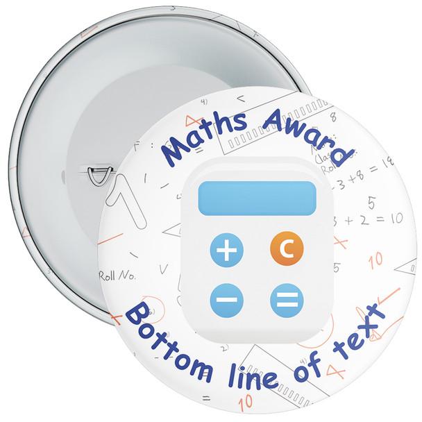 School Customisable Maths Award Badge 4