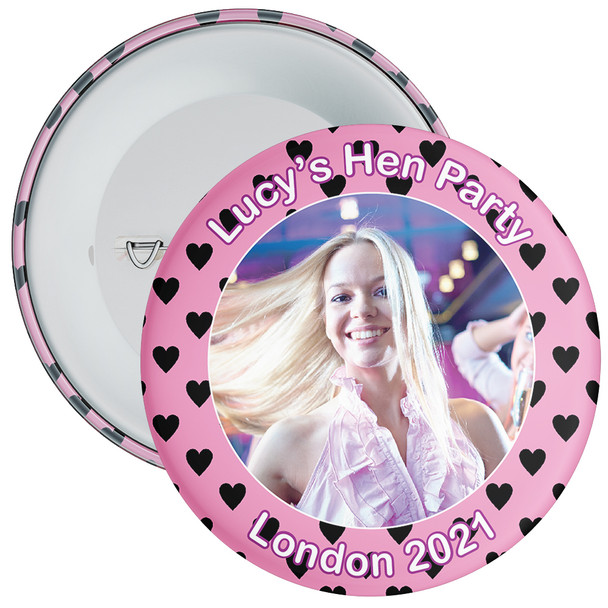 Customisable Hen Party Photo Badge 7