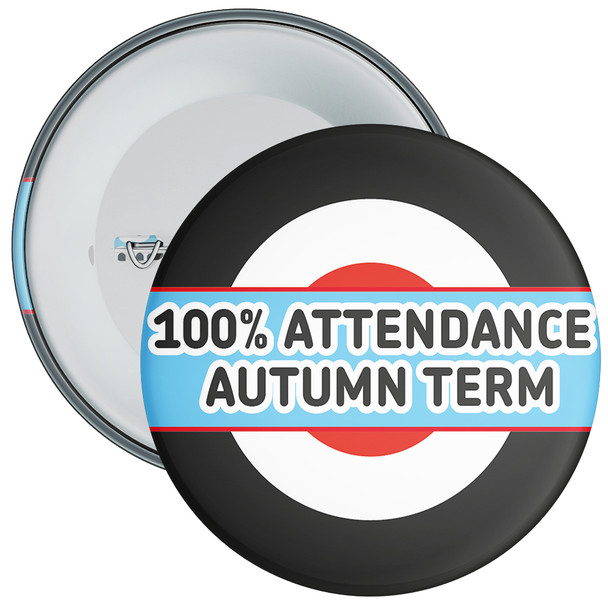 School 100% Attendance Badge Autumn Term