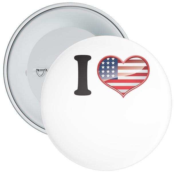 Custom USA Styled I Love Badge
