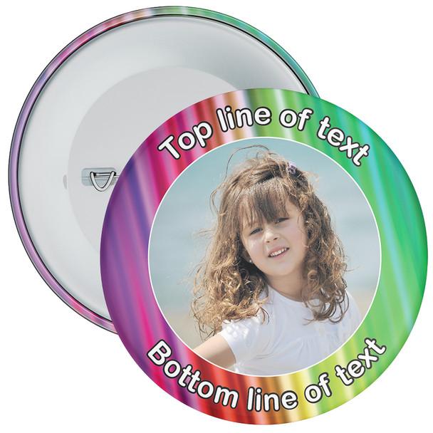 Multicoloured Bordered Photo Badge