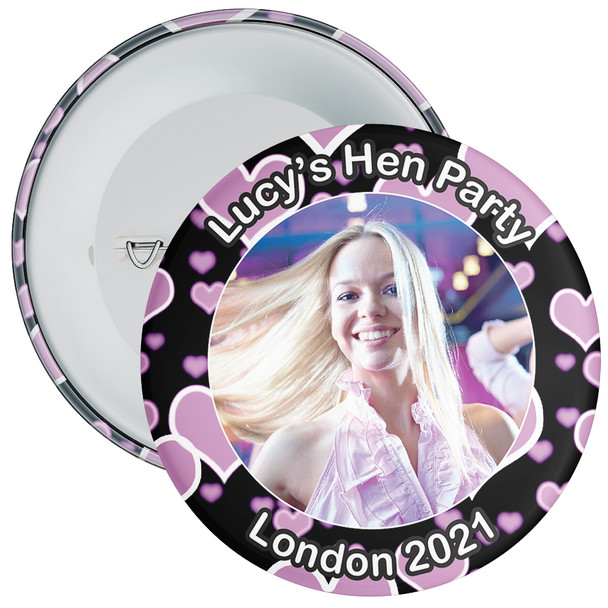 Customisable Hen Party Photo Badge 4
